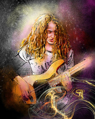 Jeff Digital Art - Tal Wilkenfeld by Miki De Goodaboom
