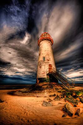 Coastline Digital Art - Talacre Lighthouse by Adrian Evans