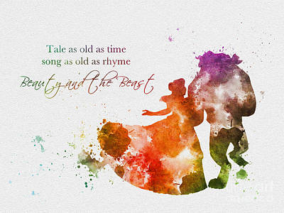 Animation Mixed Media - Tale As Old As Time by Rebecca Jenkins