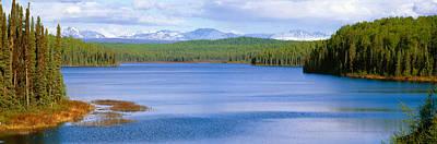 Wetlands Photograph - Talkeetna Lake, Alaska by Panoramic Images