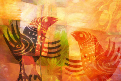 Talking Birds Print by Lutz Baar