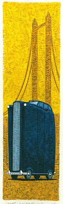Tall London Taxi Print by Brian James