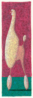 Elongated Photograph - Tall Poodle by Brian James