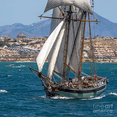 Tall Ship Alicante Print by Pablo Avanzini