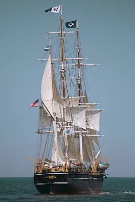 Tall Ship Charles W Morgan Print by Dapixara Art