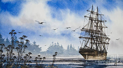 Tall Ship Cove Print by James Williamson