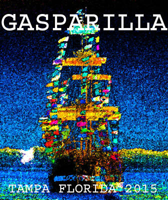 Pirate Ship Painting - Tall Ship Jose Gasparilla by David Lee Thompson