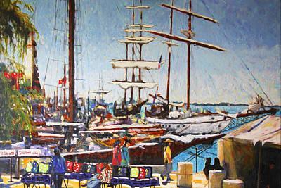Tall Ships Original by J C Pais