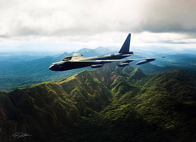 Tall Tail B-52 Print by Peter Chilelli
