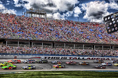 Talladega Superspeedway In Alabama Print by Mountain Dreams