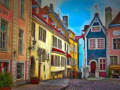 Tallinn Old Town 2 Print by Yury Malkov