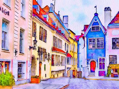 Tallinn Old Town Print by Yury Malkov