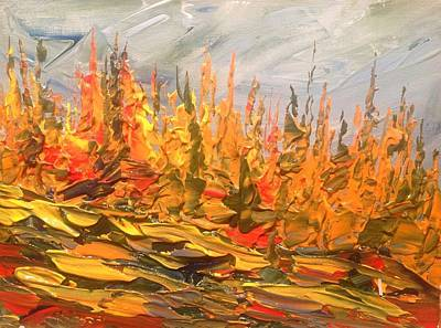 Pai Painting - Tamarack Texture 2 by Desmond Raymond