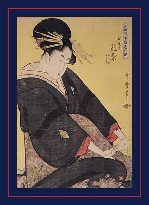 Tamaya Uchi Hanamurasaki, Sekiya, Teriha = Hanamurasaki Print by Artokoloro