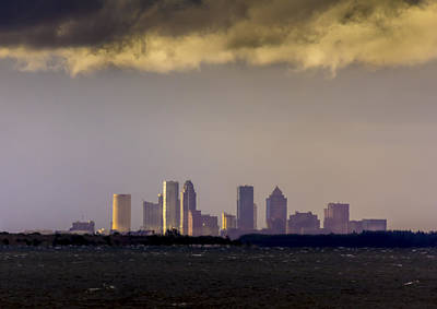 Tampa On The Horizon Print by Marvin Spates
