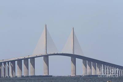Tampa Sky Way Bridge Print by Christiane Schulze Art And Photography