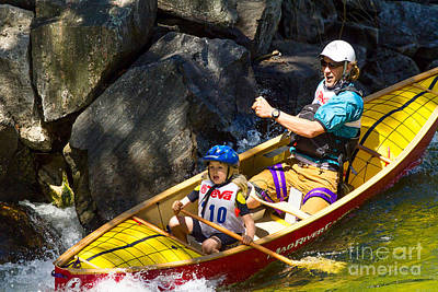 Whitewater Photograph - Tandem Paddling by Les Palenik