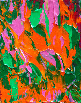 Tangerine And Lime Print by Donna Blackhall