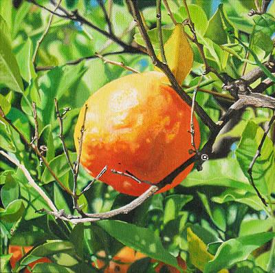 Tangerine Painting - Tangerine by Art Carrillo
