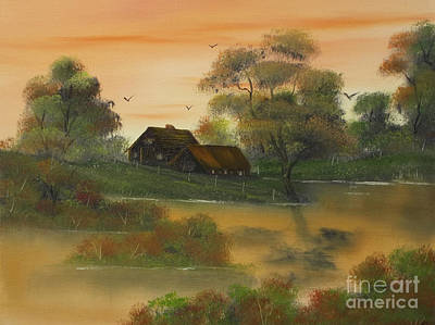 Tangerine Painting - Tangerine Dreams At Fall. by Cynthia Adams
