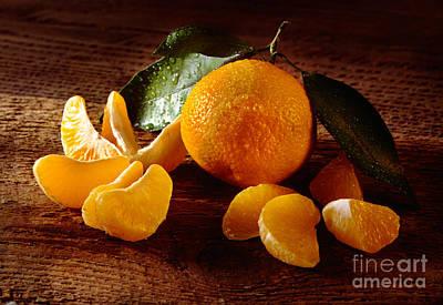 Tangerine Print by Iris Richardson