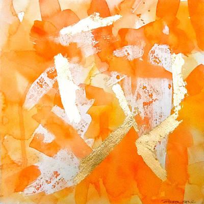 Tangerines Painting - Tangerine Tango by Roleen  Senic