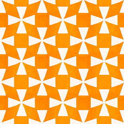 Tangerine Painting - Tangerine Twirl by Linda Woods