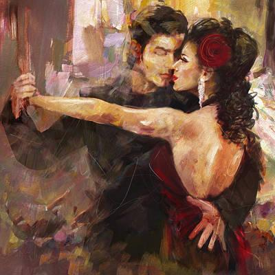 Strength Painting - Tango - 2 by Mahnoor Shah