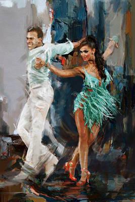 Ballet Painting - Tango 4 by Mahnoor Shah