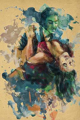 Ballet Dancers Painting - Tango 7c by Maryam Mughal
