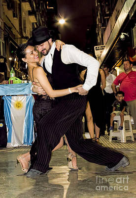 Buenos Aires Photograph - Tango Dancing In Buenos Aires Argentina by David Smith