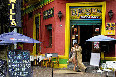 Tango Dancing In La Boca Print by David Smith