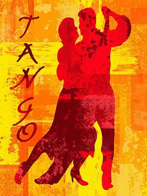 Ballroom Digital Art - Tango by David G Paul