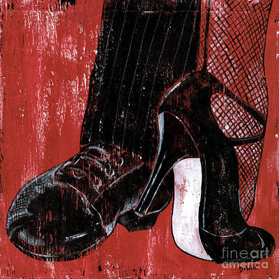 Stockings Painting - Tango by Debbie DeWitt