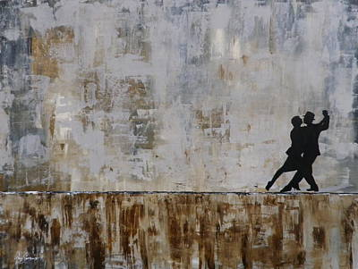 Gino Painting - Tango En La Calle by Gino Savarino