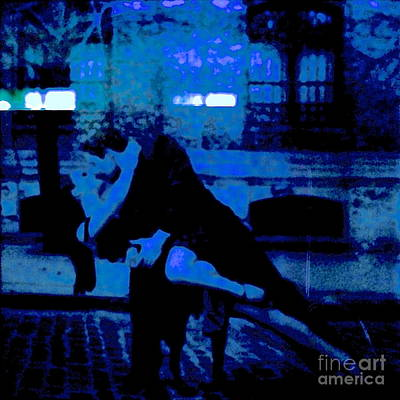 Tango In Blue Original by Diane Phelps
