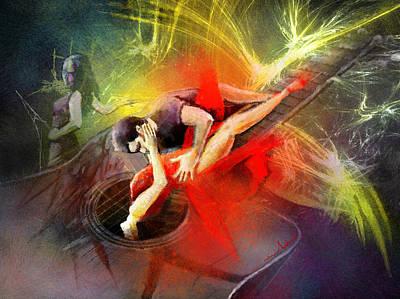 Tangoscape 06 Print by Miki De Goodaboom