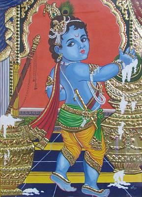 Tanjore Baby Krishna  Print by Anuradha Kabra