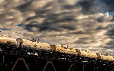Tank Cars Print by Bob Orsillo
