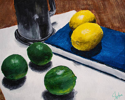 Tankard And Citrus 8x10 Print by Stephen Nantz