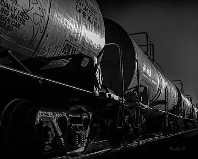 Train Photograph - Tanker Cars by Bob Orsillo