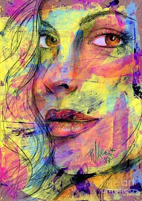 Fashion Abstract Art Drawing - Tanya by P J Lewis