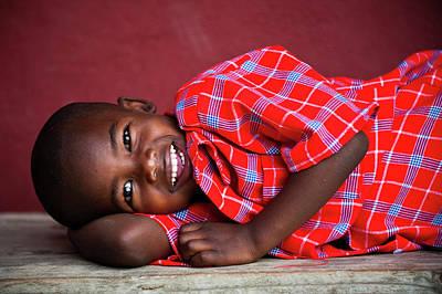 Tanzanian Boy Smiling Print by Matthew Oldfield