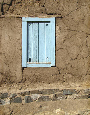 Taos New Mexico Photograph - Taos Blue Window  by Ann Powell
