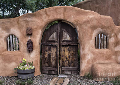 Grill Gate Photograph - Taos Gate by Terry Rowe
