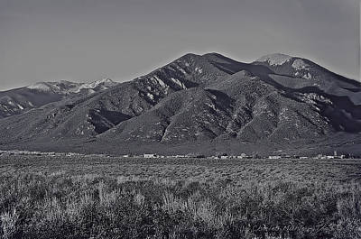 Taos In Black And White II Original by Charles Muhle