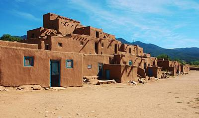 Taos Pueblo 4 Print by Dany Lison