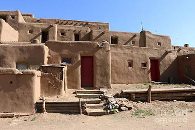 Taos Red Doors  Print by Christiane Schulze Art And Photography