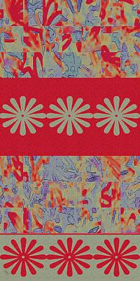 Tapestries Textiles Digital Art - Tapestry by Ben and Raisa Gertsberg