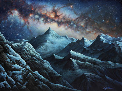 Nebula Painting - Tapestry Of Time by Lucy West